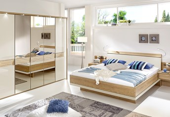 Stylform DORIS - 150-300cm Wardrobe Bedroom Setsolid oak frame with glass or mirror doors