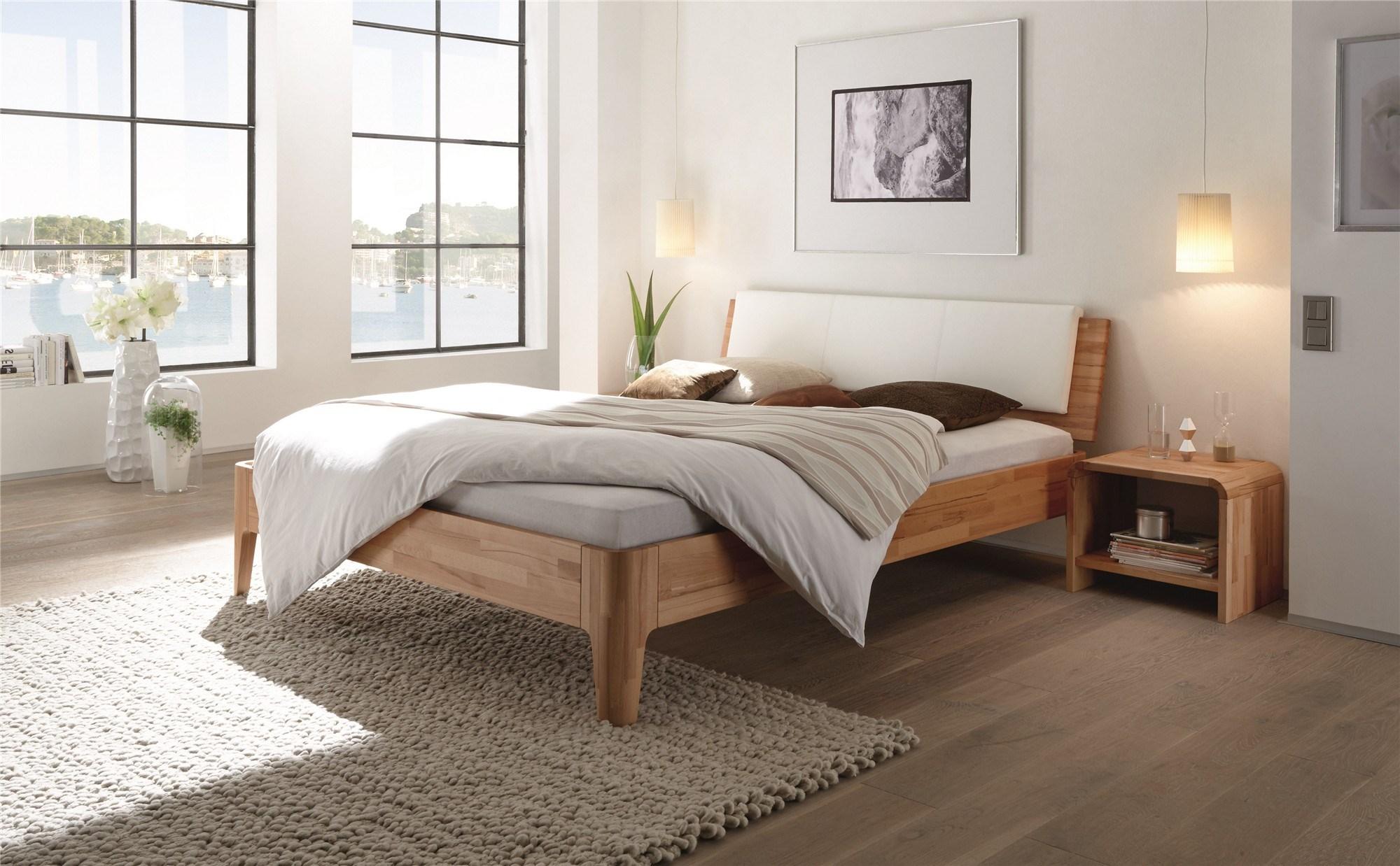 Roma Walnut Contemporary Bed: Contemporary Designer Beds » Hasena Ronda Varus Solid