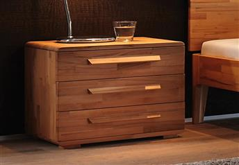 Hasena Trigo - Solid Beech or Walnut 2-drawer bedside table