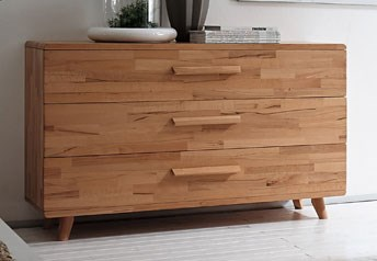 Hasena Sigma - Solid Beech or Walnut XL Chest of Drawers