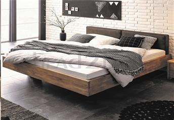 Hasena Vilo Cena Real Leather Bed - Character Solid Oak * Vintage Finish *
