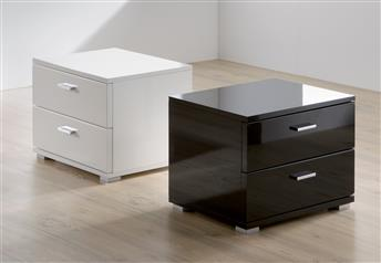 Hasena Onna - 2 Drawer High Gloss Modern Bedside