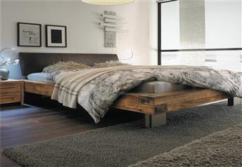 Hasena Bloc Quada Ripo - Real leather and Character Solid Oak *Vintage Finish* Bed