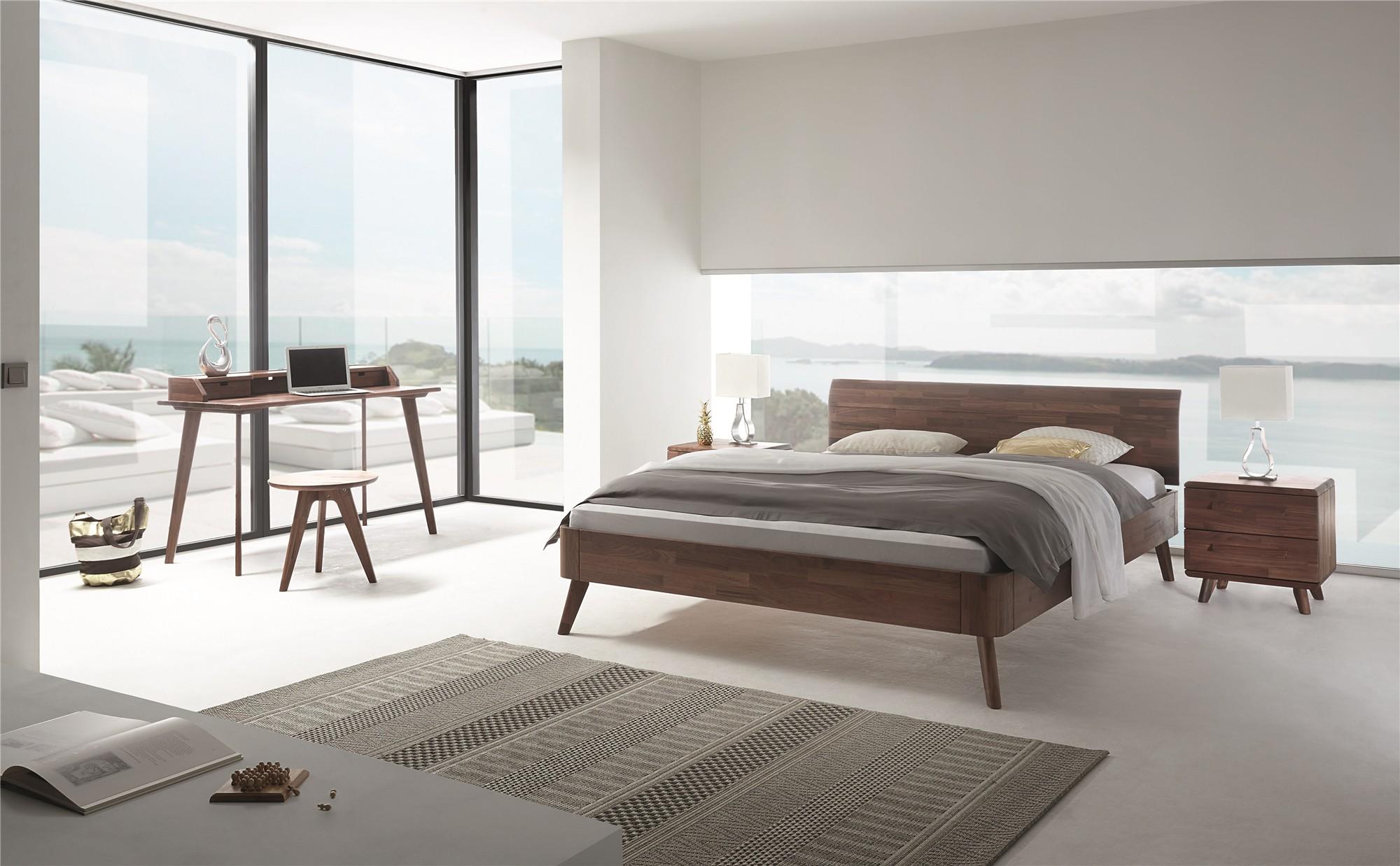 Roma Walnut Contemporary Bed: Contemporary Designer Beds » Hasena Masito Vola Solid
