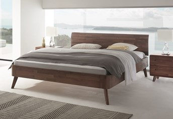 Hasena Masito Vola Solid Beech or Solid Walnut Modern bed