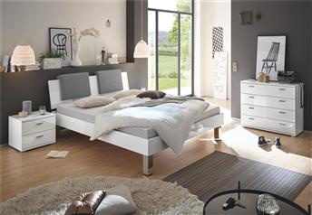 Hasena Mico Orva Varo Contemporary High Gloss White Bed