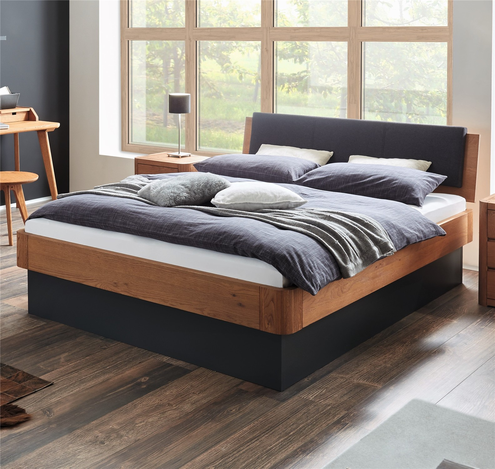 Fantastic Hasena Practico Ron Varus Ravo Solid Oak Ottoman Bed Pabps2019 Chair Design Images Pabps2019Com