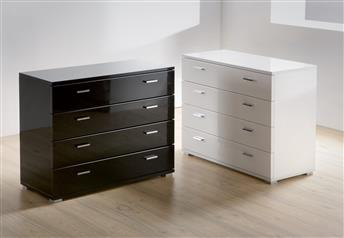 Hasena Ombia - 4 drawer High Gloss Modern Chest of Drawers