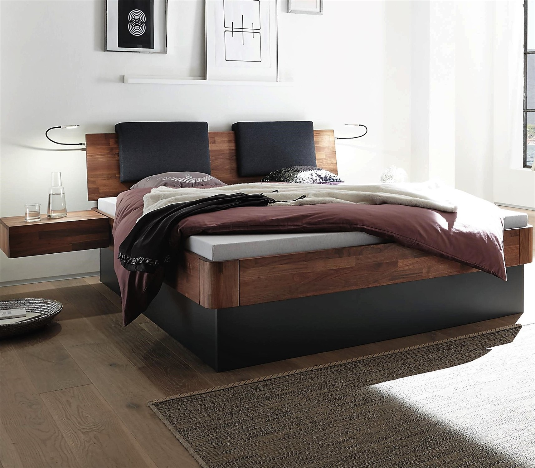 Fabulous Hasena Practico Ron Varus Solid Beech Or Solid Walnut Ottoman Bed Bralicious Painted Fabric Chair Ideas Braliciousco