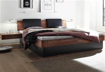 Hasena Practico Ron Varus Solid Beech or Solid Walnut Ottoman Bed