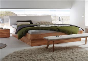 Hasena Practico Ron Ripo Solid Beech or Walnut Real Leather Ottoman Bed