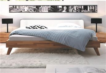 Hasena Leno Boga Solid Beech and Real leather Modern bed