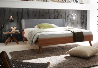 Hasena Leno Boga Solid Beech/Oak & Real leather Modern bed