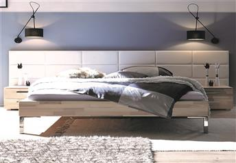Hasena Gina Opio Solid Beech and Real Leather Modern Bed