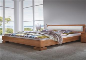 Hasena Tida Duetto Solid Beech Modern bed with optional Real leather