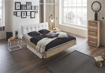 Hasena Vilo Ronna Solid Acacia and Real leather Modern bed