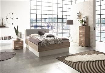Hasena Practico Orva Ottoman Bed in Solid Acacia and Optional Real Leather