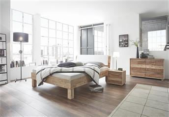 Hasena Ivio Varus Ravo Solid Acacia Real Leather bed