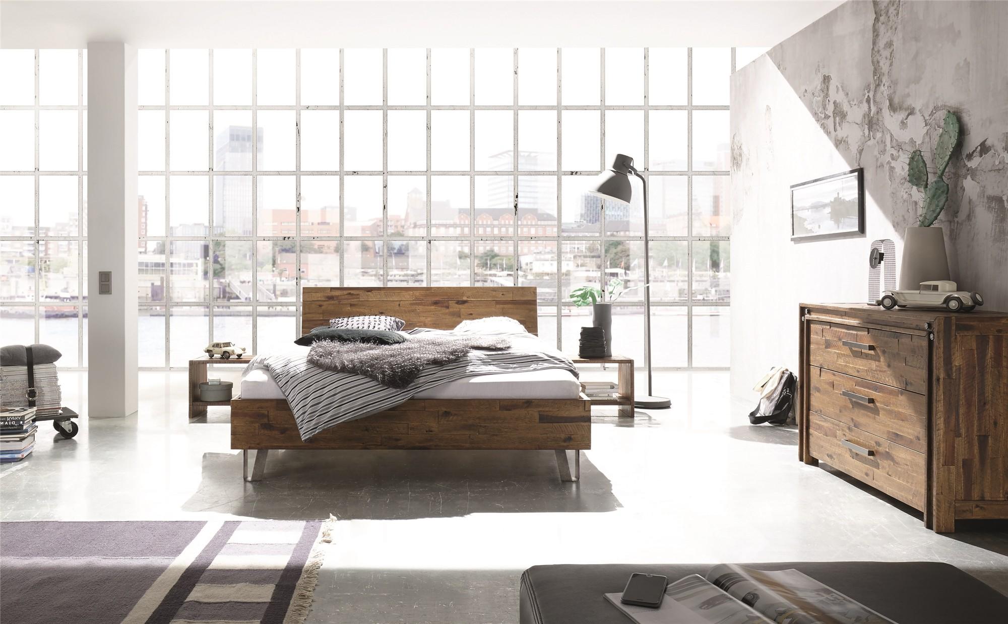 Contemporary Designer Beds 187 Hasena Jeno Xara Solid Acacia