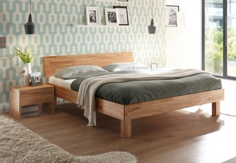 Hasena Forti Bed - Solid beech Or Solid Oak or Solid Walnut