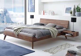 Hasena Ancona Bed - Solid Beech or Solid Oak or Solid Walnut
