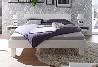 Hasena Prato Bed - in solid Beech or Oak or Walnut Modern Bed