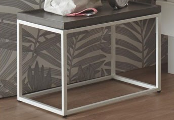 Hasena Quad Metal and Wood or Concrete Bedside tables