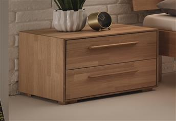 Hasena Sica Bedside table in Solid Beech, Oak or Walnut