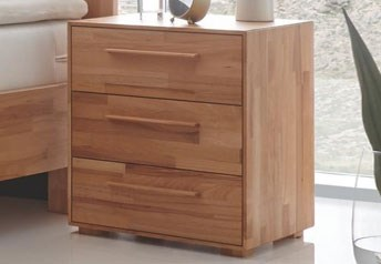Hasena Trino Bedside Table Solid Beech, or Walnut or Oak