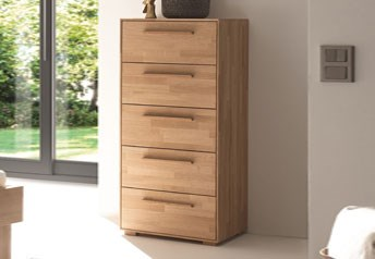 Hasena Alto Wellington Chest of drawers in Solid Beech, Oak or Walnut