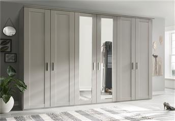 Stylform ATLAS - hinged door 'Shaker Style' wardrobe with choice of mirrors