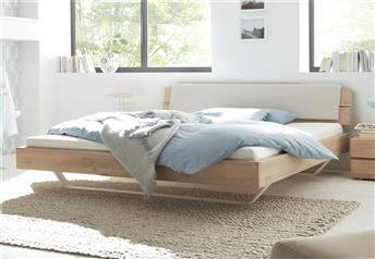 Hasena Slid Alpa Ravo Character Oak and Real Leather Bed