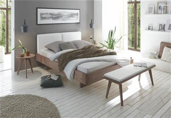 Hasena AIRON Cemoa Solid Oak & Real Leather Floating Bed