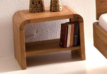 Hasena Plato - Modern Solid Oak Bedside Table