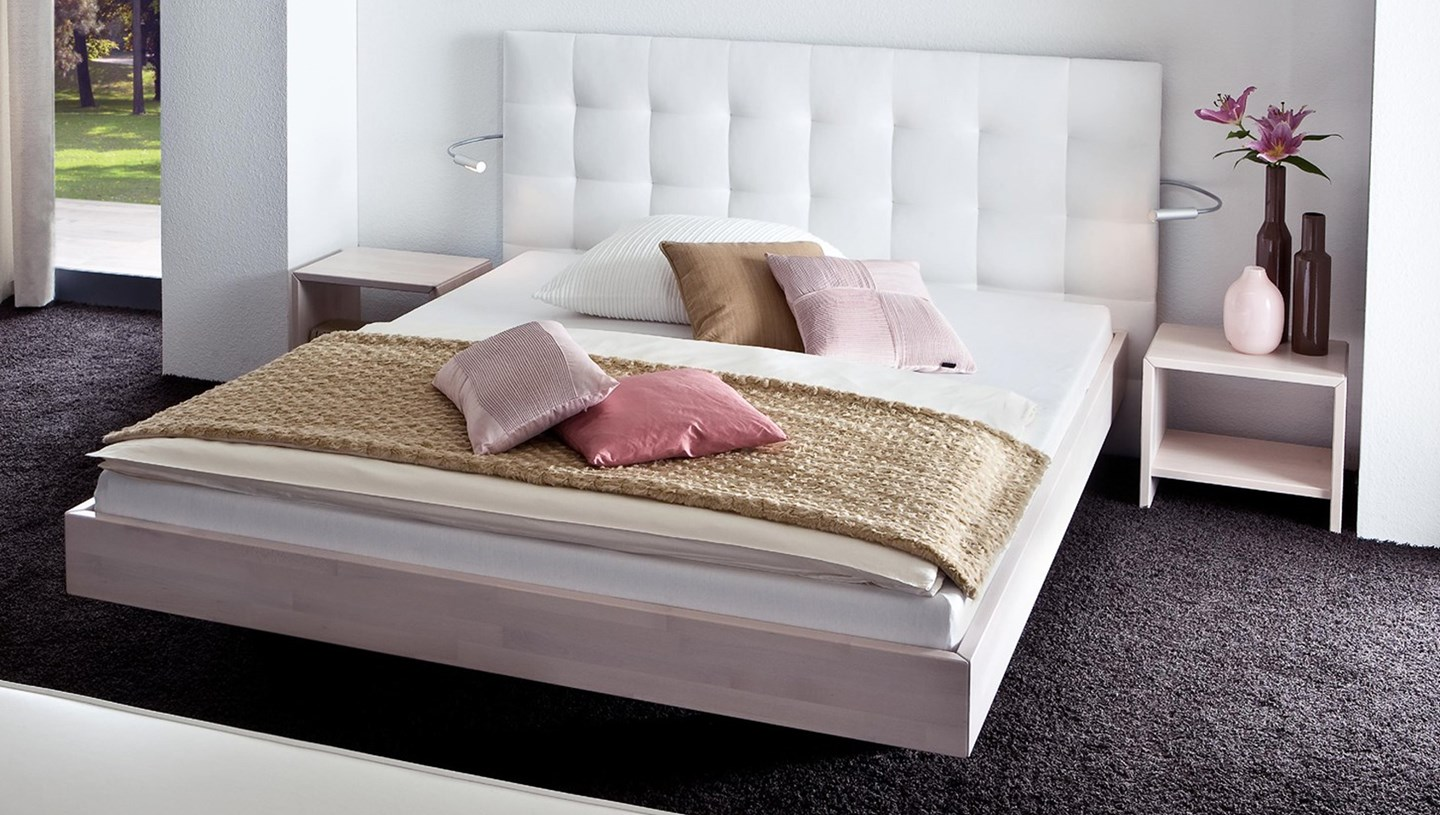 hasena vilo sogno l floating bed in solid wood