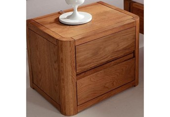 Hasena Cara - Modern Solid Oak Bedside Table