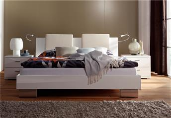 Hasena Reca Orva - High Gloss White Modern Bed