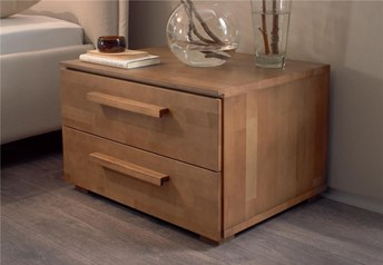 Hasena Voro - 2 Drawer Solid Beech Bedside Table