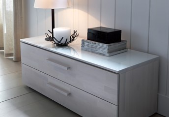 Hasena Carvo - 2 Drawer Wide Bedside Table/Chest