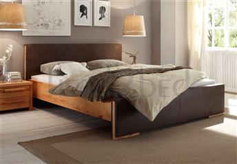 Hasena Navero - Solid Beech and Real Leather Platform Bed