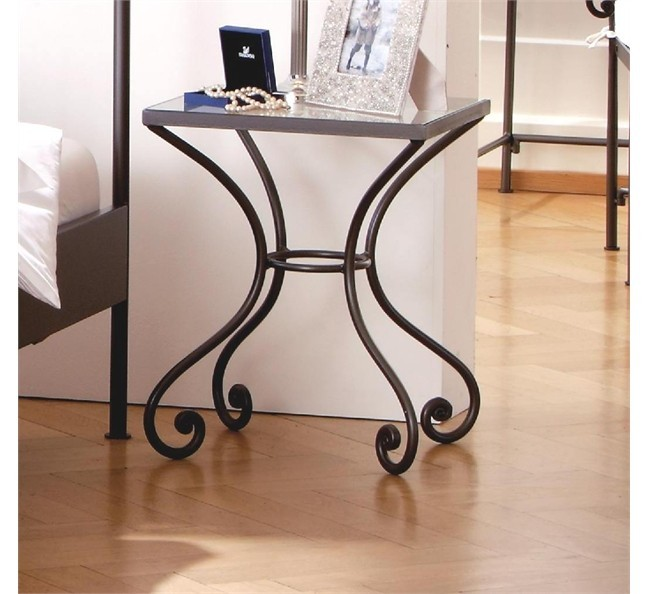 Hasena Romantic Cura Wrought Iron Bedside Table Head2bed Uk