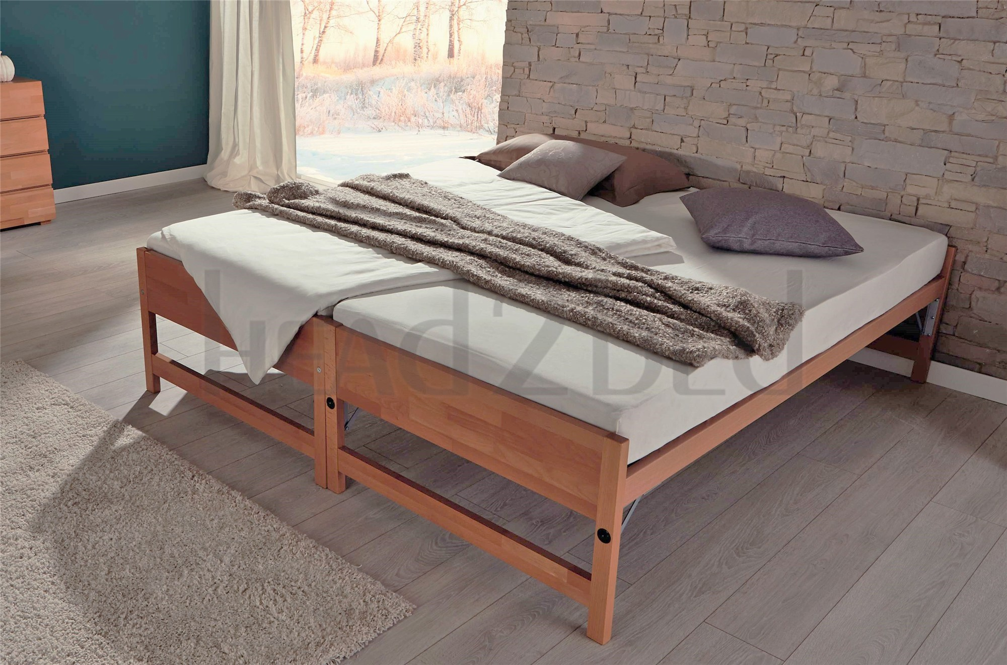 hasena lido  modern guest solid beech bed. hasena storage lido  modern guest bed  headbed uk
