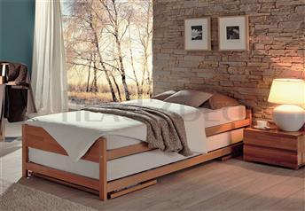Hasena Lido - Modern Guest Solid Beech Bed