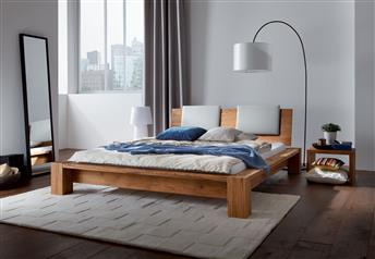 Hasena Cobo Cortina Sion - Solid Oak Bed - 10 cm H legs