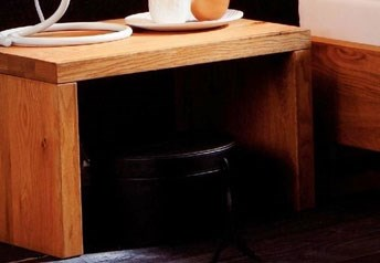Hasena Osta - Solid Oak Bedside Table No Drawers