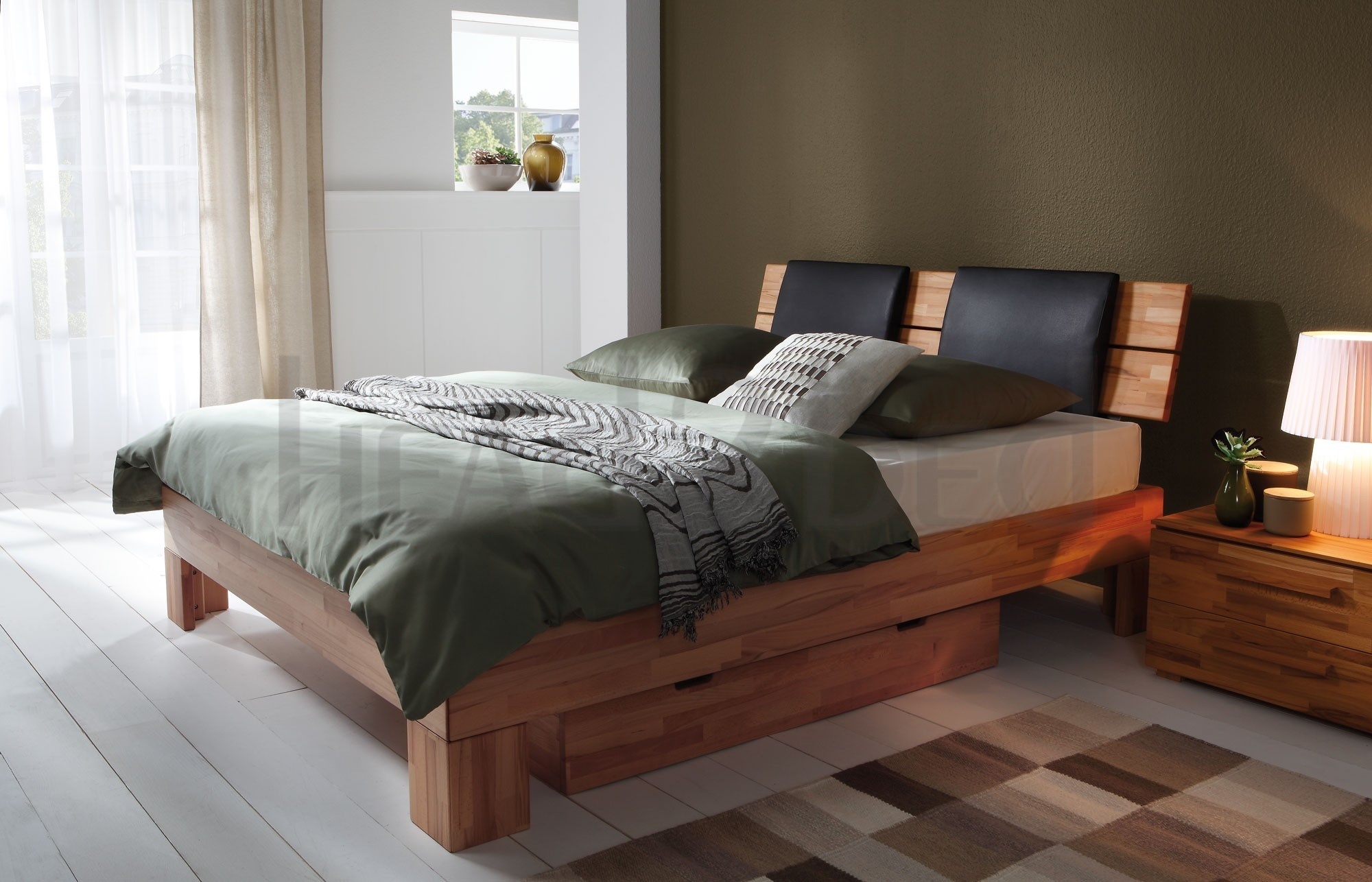Solid Wood Beds Hasena Massa Duetto Suny Solid Beech