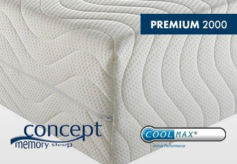 Concept Memory PREMIUM 2000 20cm Mattress - Medium Support