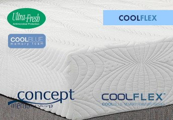 Concept Memory COOLFLEX Cool-BLUE 20cm Mattress Medium-firm Support