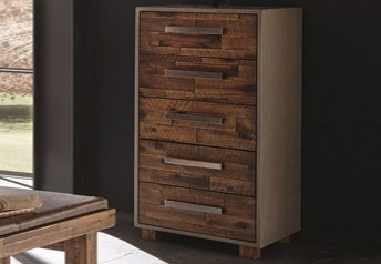 Hasena Tola tall chest of drawers Acacia Vintage