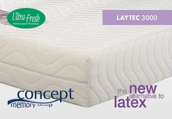Concept Memory LAYTEC 3000 20cm Foam Mattress Medium-Firm